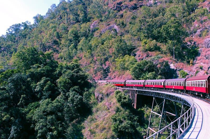 Ferrovia di Kuranda fotografie stock libere da diritti