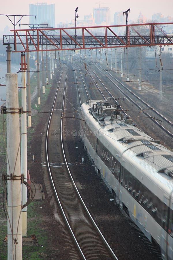 Ferrovia (ferrovia) immagine stock libera da diritti