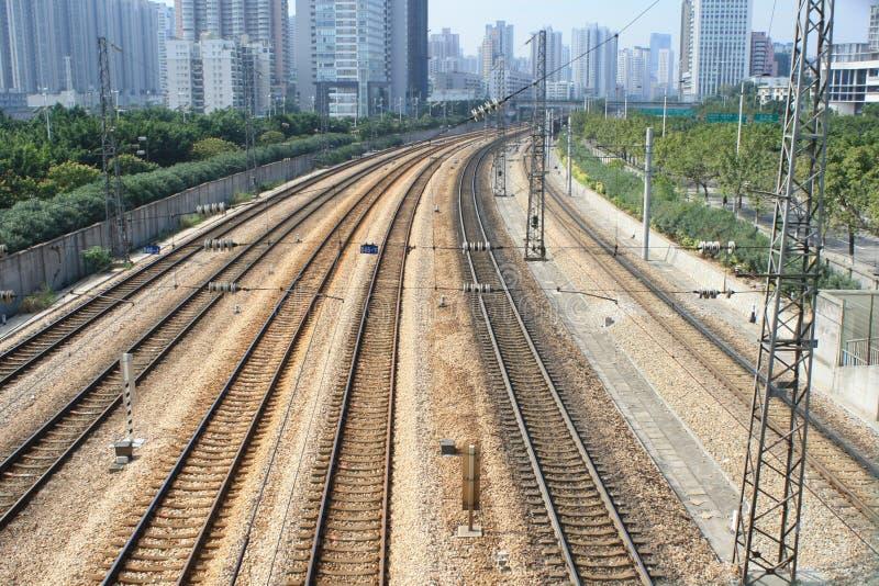 Ferrovia a guangzhou fotografie stock libere da diritti
