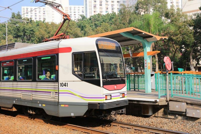 Ferrovia leggera in Tuen Mun Hong Kong fotografia stock