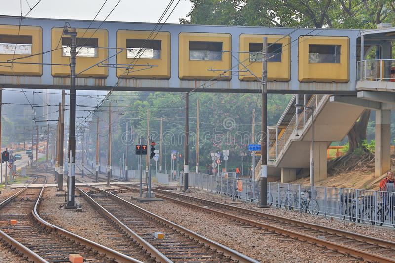 Ferrovia leggera in Tuen Mun Hong Kong immagine stock libera da diritti