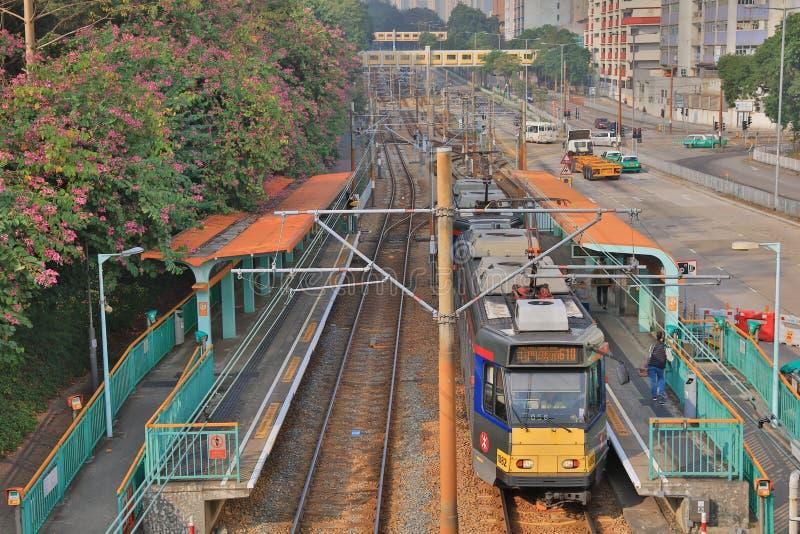 Ferrovia leggera in Tuen Mun Hong Kong fotografia stock libera da diritti