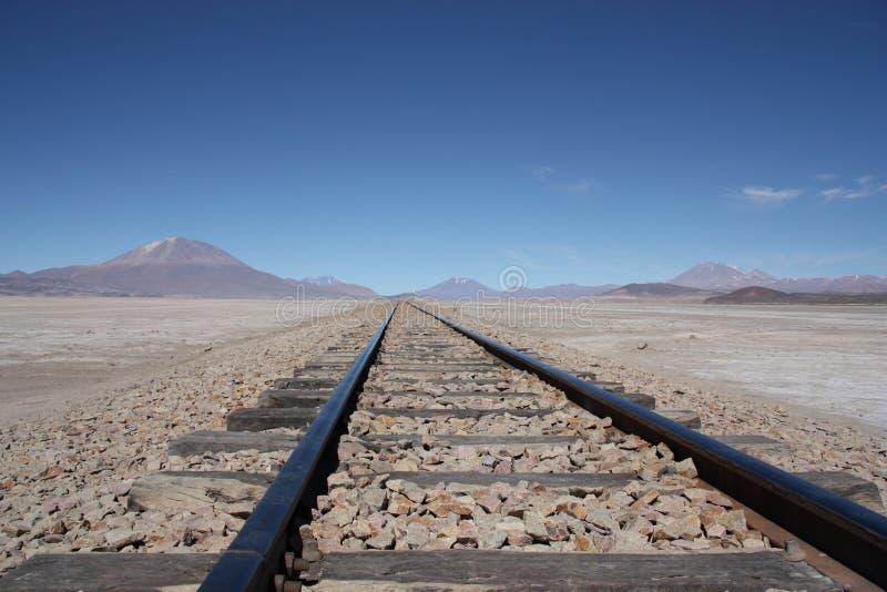 Ferrovia nel deserto fotografie stock