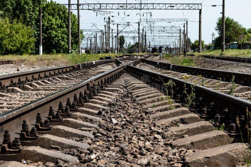 Ferrovia nella campagna immagini stock libere da diritti