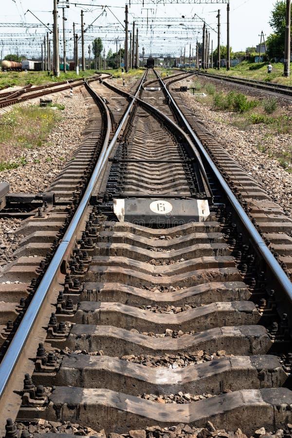 Ferrovia nella campagna immagine stock libera da diritti