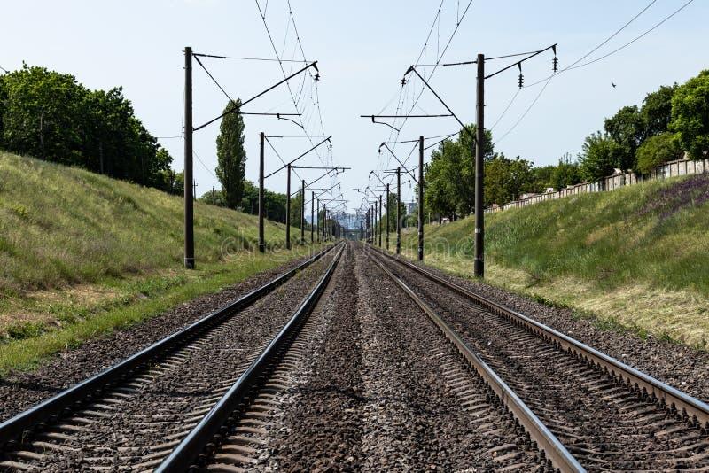 Ferrovia nella campagna fotografie stock libere da diritti