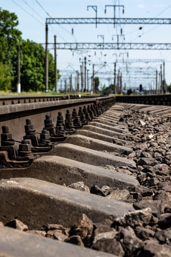 Ferrovia nella campagna fotografia stock