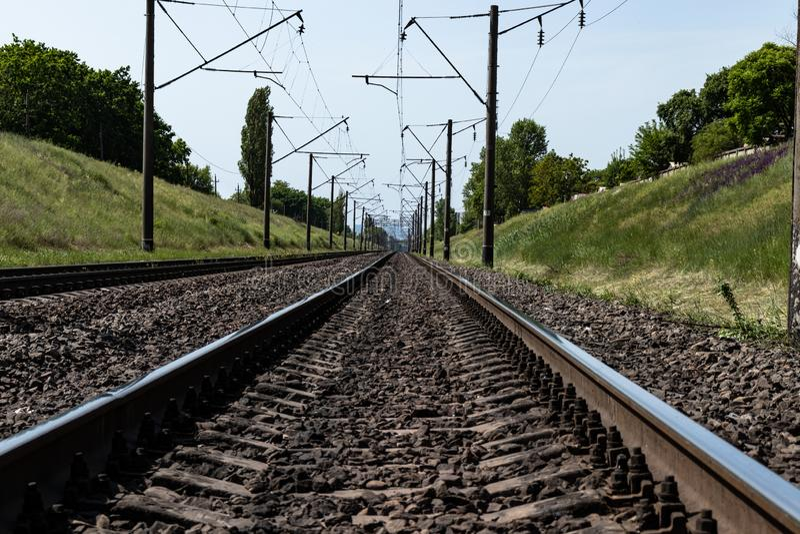 Ferrovia nella campagna fotografia stock libera da diritti
