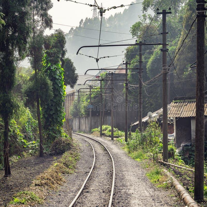 Ferrovia a scartamento ridotto elettrica da Shixi a Bagou immagini stock libere da diritti