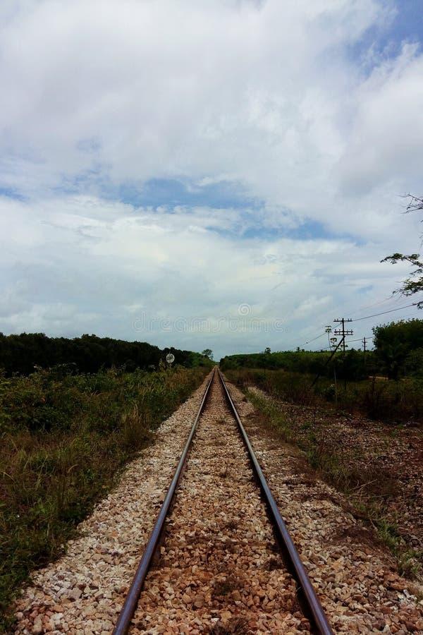 Ferrovia in Tailandia fotografia stock libera da diritti