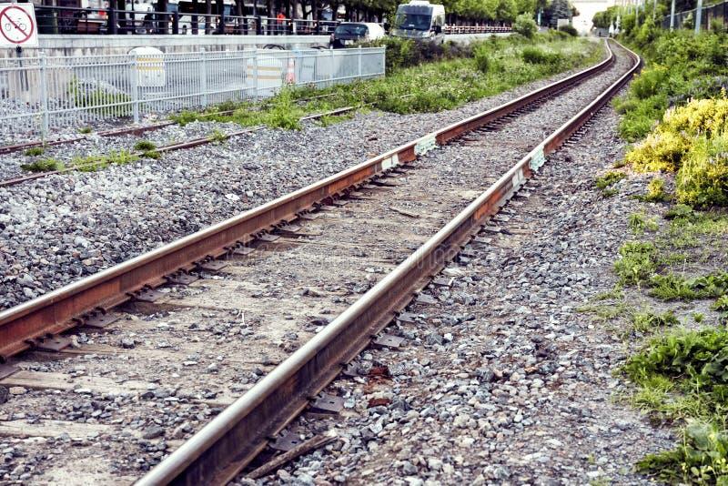 Ferrovias do trem fotos de stock
