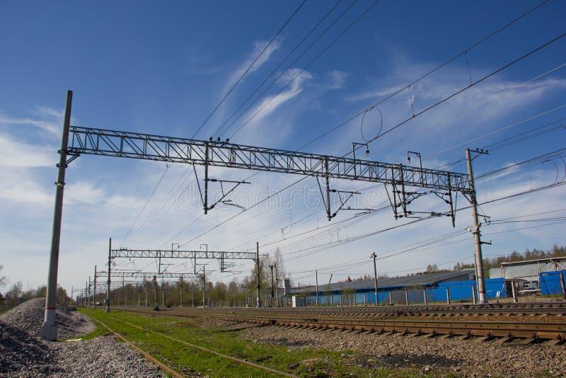 Ferrovie russe, rotaie fotografie stock libere da diritti