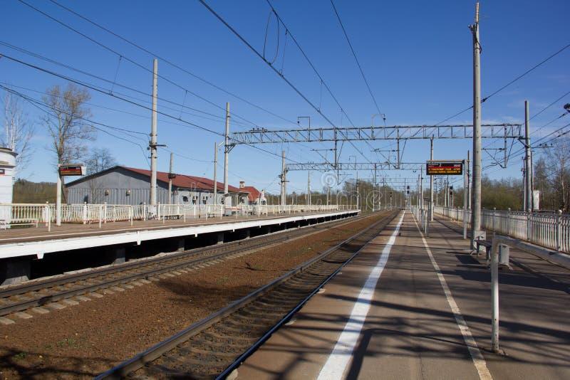 Ferrovie russe, rotaie immagini stock libere da diritti