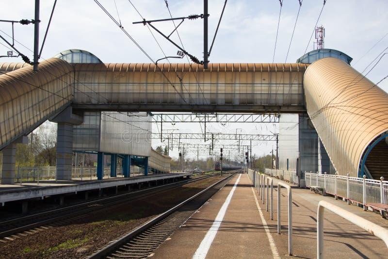 Ferrovie russe, rotaie fotografia stock