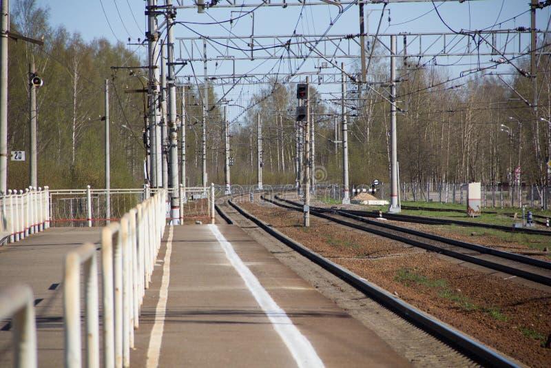 Ferrovie russe, rotaie fotografia stock libera da diritti