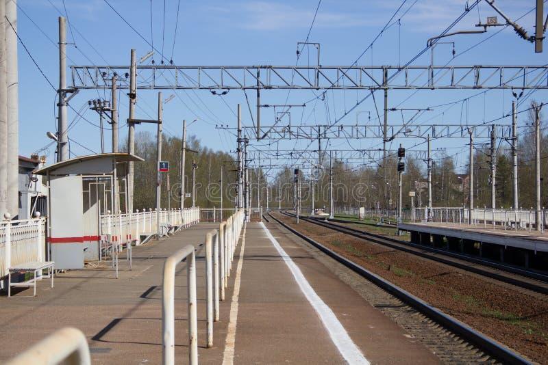 Ferrovie russe, rotaie immagine stock libera da diritti