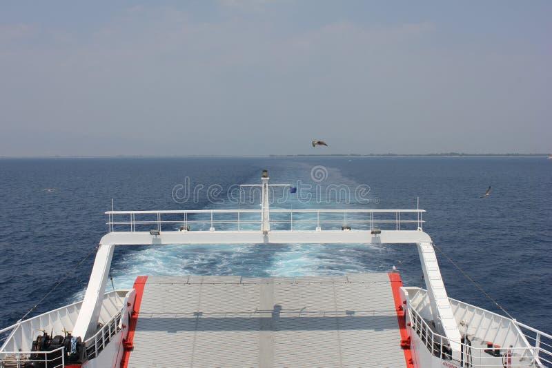 Ferry à Thassos photographie stock libre de droits