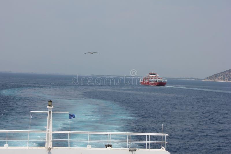Ferry à Thassos photo stock
