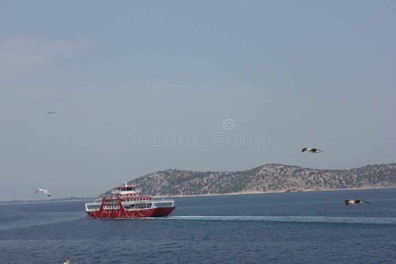 Ferry à Thassos photo libre de droits