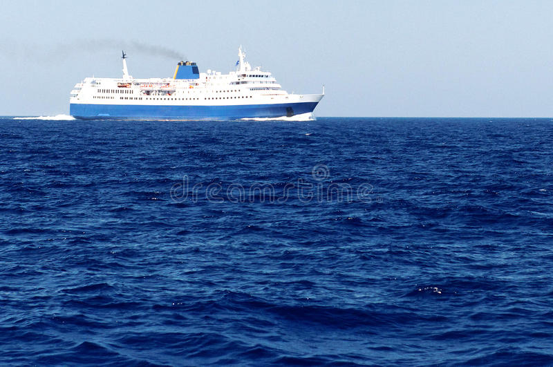 Download Ferry on blue sea stock image. Image of travel, sails - 22602823