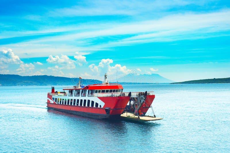 Bali Java ferry boat, Indonesia stock photo