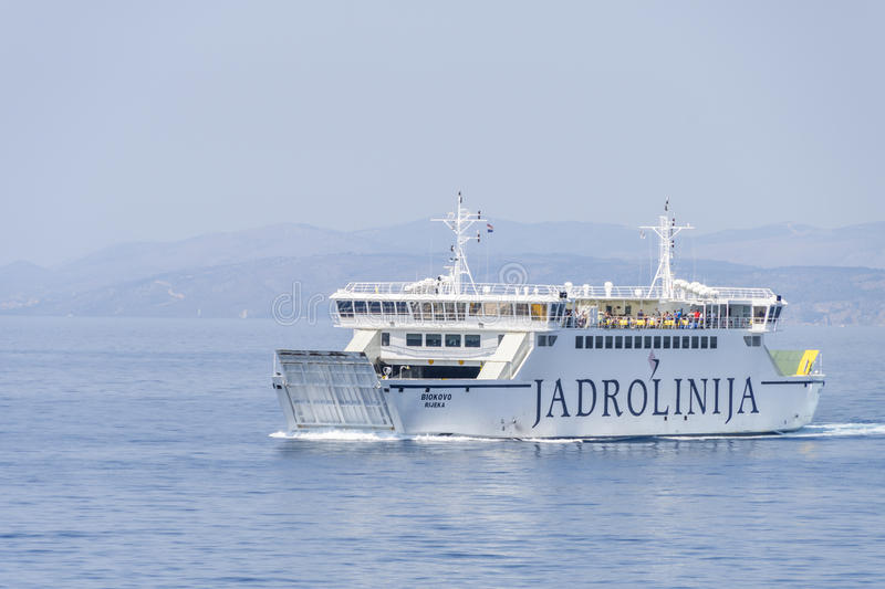 Ferry-boat Biokovo photo stock