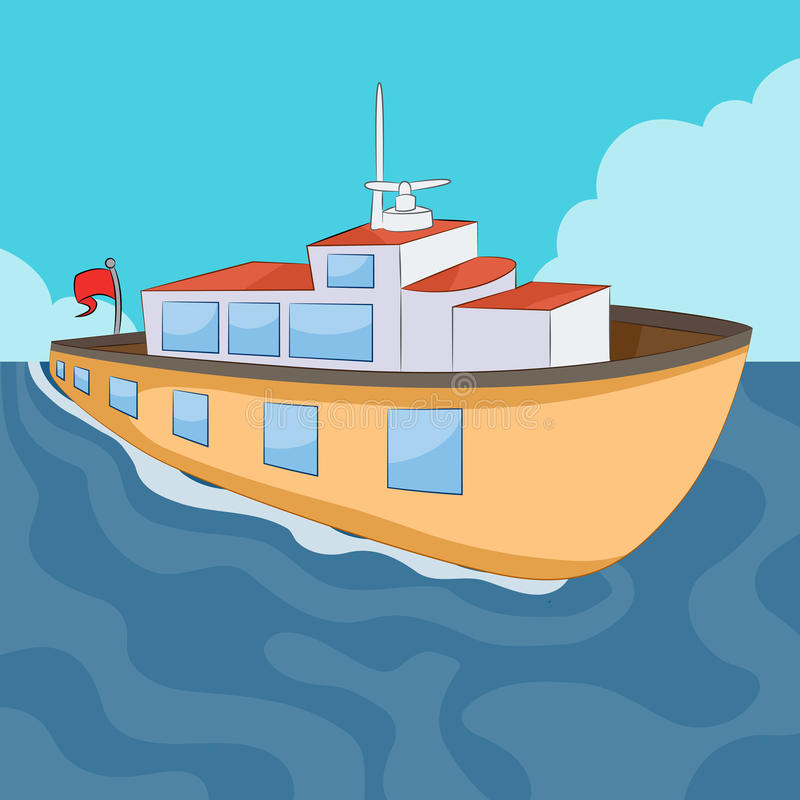 Ferry Boat royalty free illustration