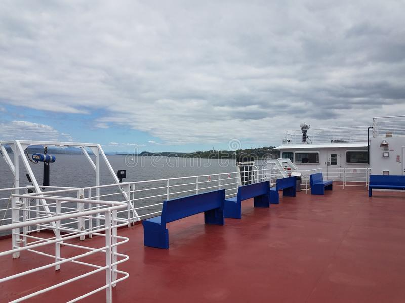 On ferry boat between Quebec and Levis Canada. On ferry boat in river between Quebec and Levis Canada royalty free stock image