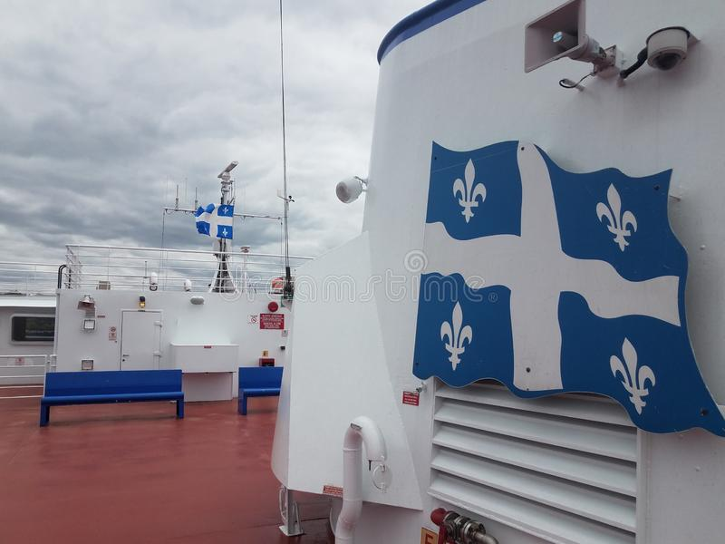 On ferry boat between Quebec and Levis Canada. On ferry boat in river between Quebec and Levis Canada stock photos