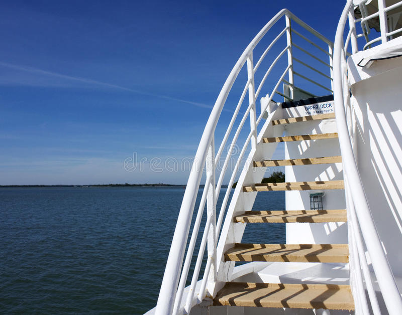 Ferry Boat Stairs stock photo