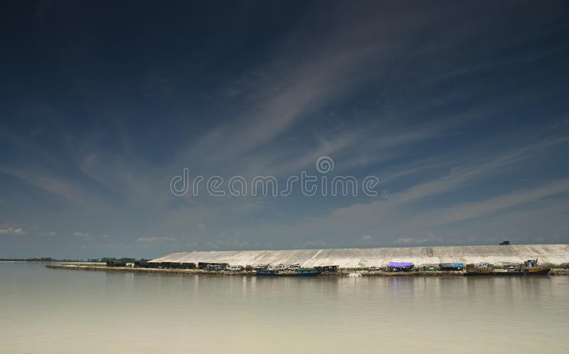 Ferry Boats at Sadiya Ghat, Tinsukia, Assam. India royalty free stock photography