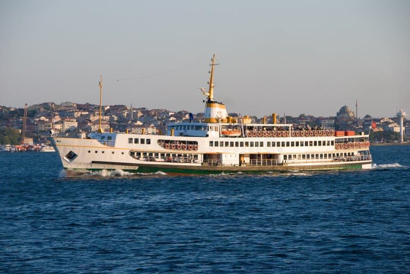 Ferry on the Bosphorous, Istan stock image