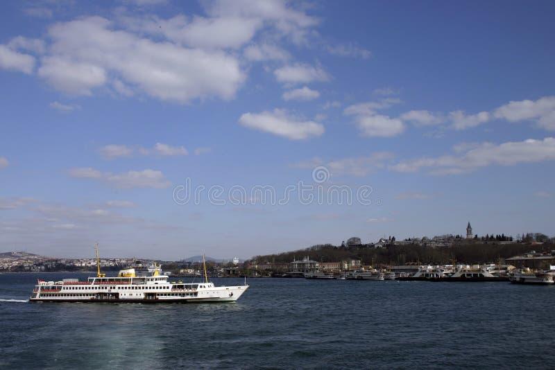 Ferry Costantinopoli fotografia stock libera da diritti