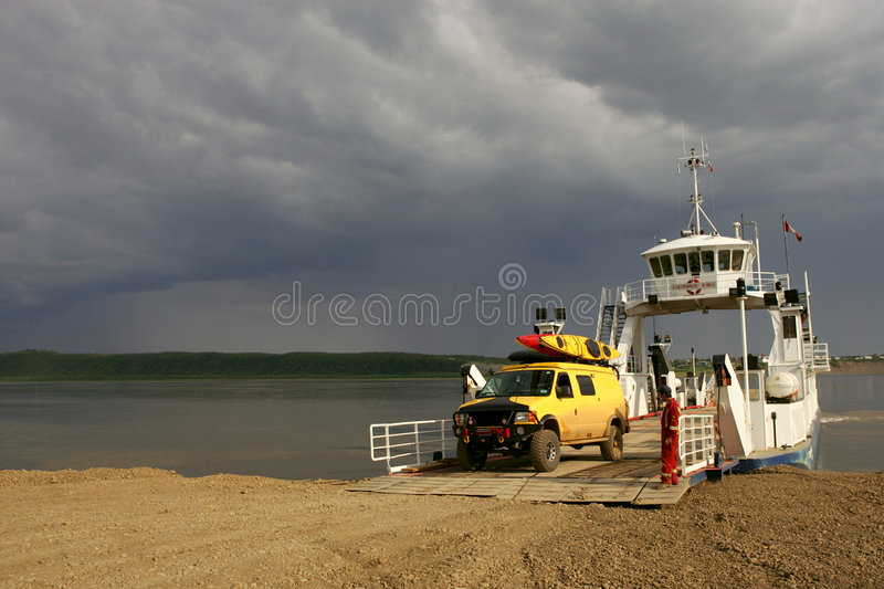 Ferry Crossing stock photo