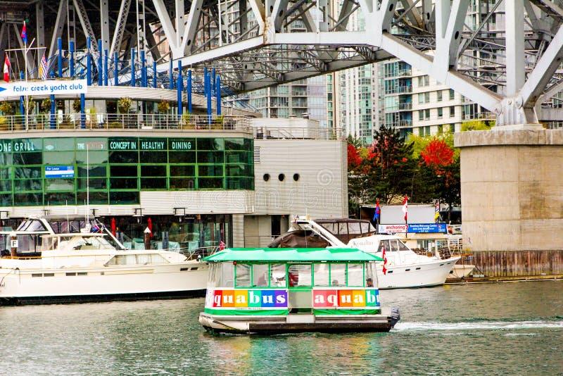 Ferry d'Aquabus, Vancouver, B C photos libres de droits
