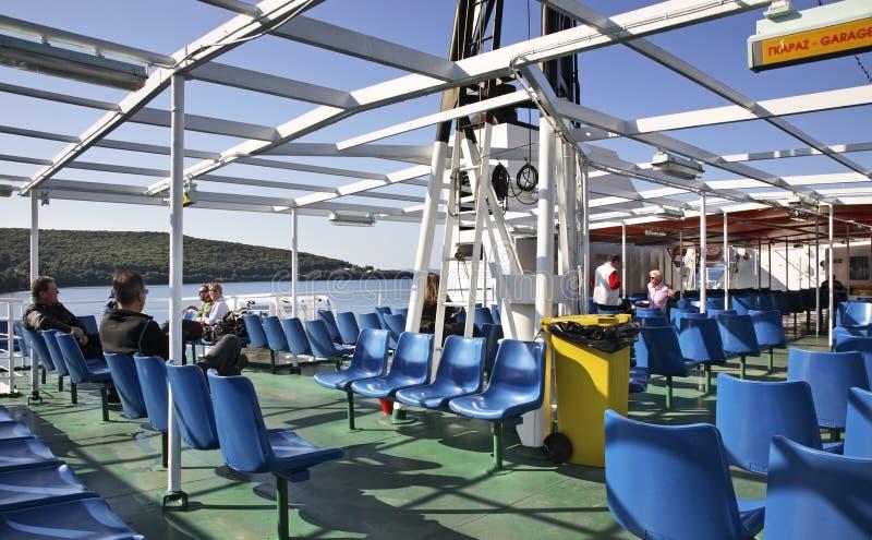 Ferry de Corfou à Igoumenitsa La Grèce image stock