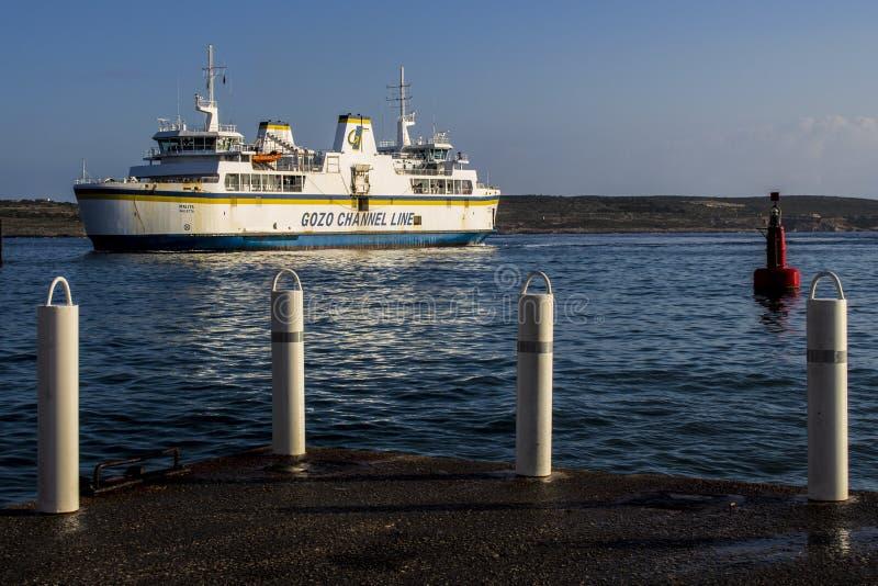 Ferry de Gozo image stock
