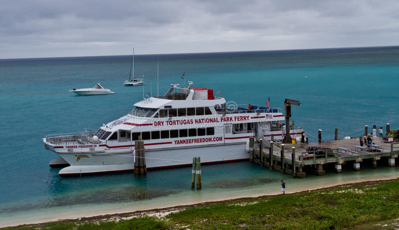 Ferry at Dry Tortugas royalty free stock images