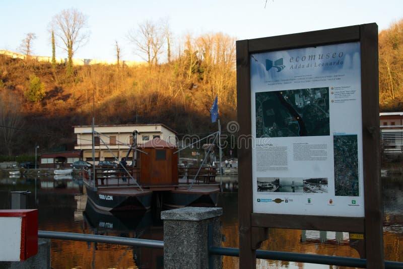 Ferry du ` s de Leonardo d'Ecomuseum photo libre de droits