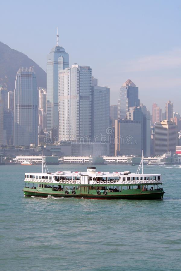 Ferry in Hong Kong stock photo