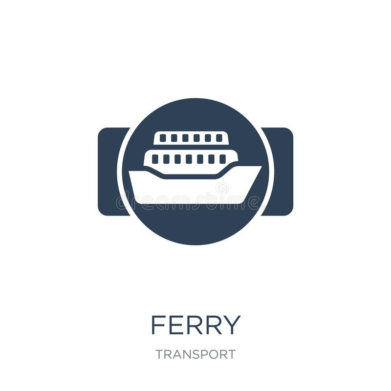 Free Ferry Icon In Trendy Design Style. Ferry Icon Isolated On White Background. Ferry Vector Icon Simple And Modern Flat Symbol For Royalty Free Stock Photography - 135716307