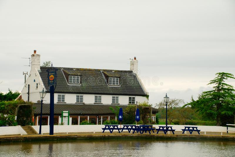 Ferry Inn Reedham Norfolk. Ferry Inn public house and restaurant situated beside the river Yare at the ferry crossing near the village of Reedham stock photography