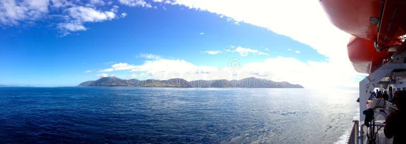 Ferry ion newzealnd royalty free stock photo