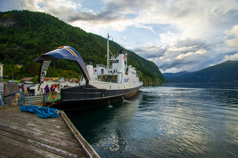 Ferry landing royalty free stock photos