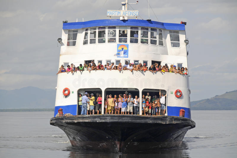 Ferry Massive Transportation stock photo