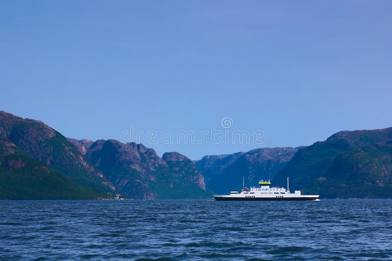 Ferry In Norway Editorial Photography