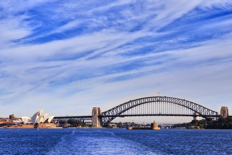 Ferry op de franc de côté de pont de Sy images stock