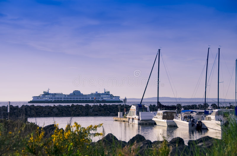 Ferry Passes by royalty free stock images