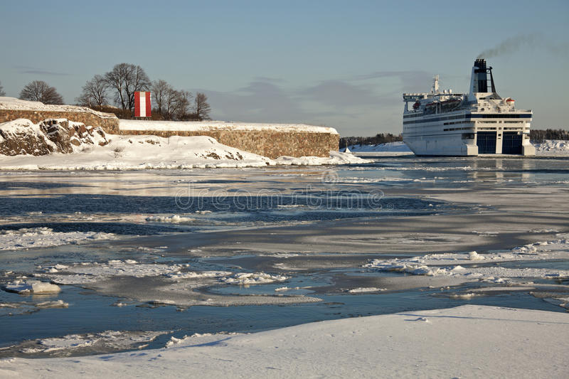 Download Ferry Passing By Suomenlinna Sea Fortress Stock Photo - Image: 18855074