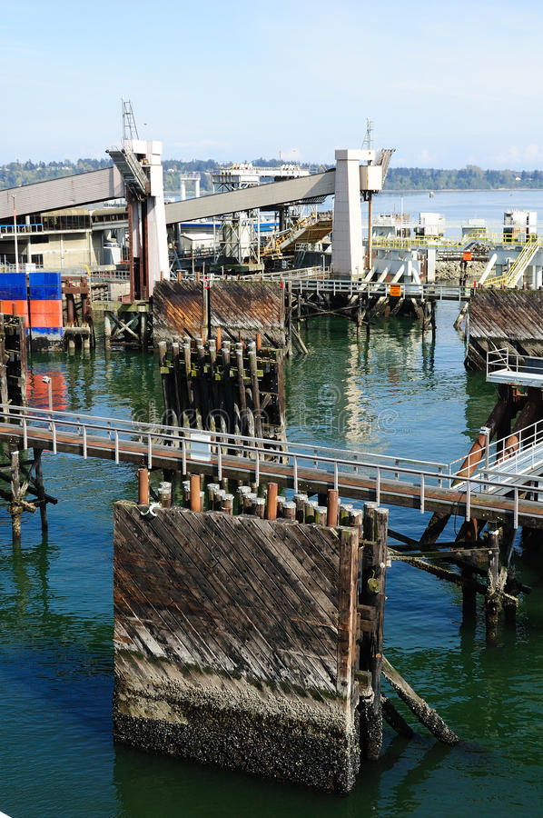 Ferry port royalty free stock photography